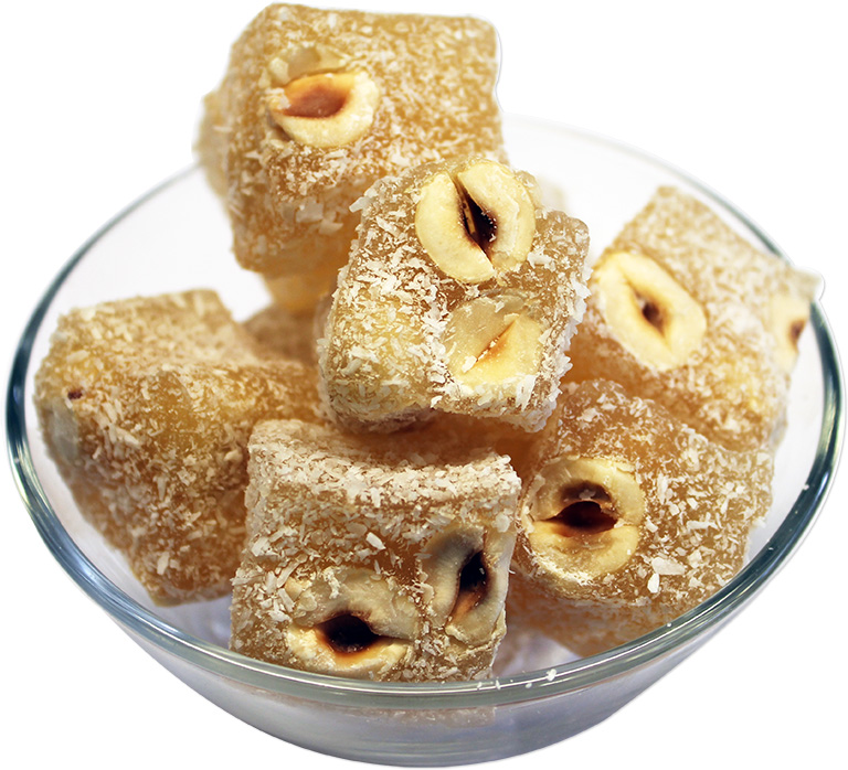 Hazelnuts Turkish Delight with Coconut